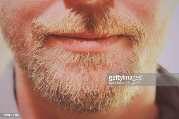 Midsection Of Bearded Man