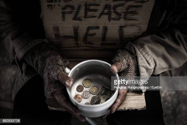 midsection of beggar - homeless stock photos and pictures