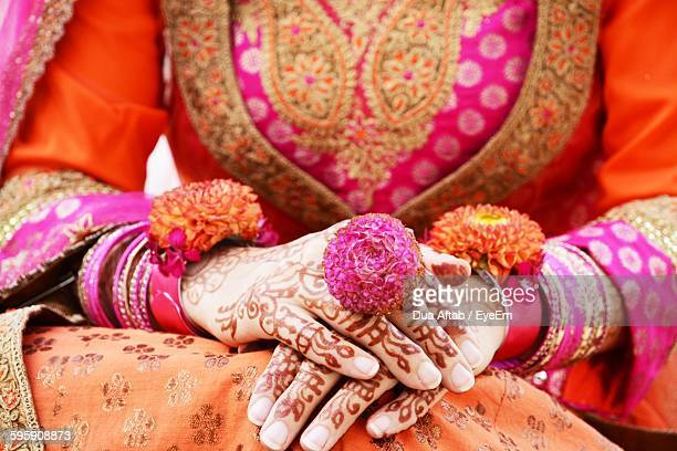 midsection of indian bride - cultures stock pictures, royalty-free photos & images