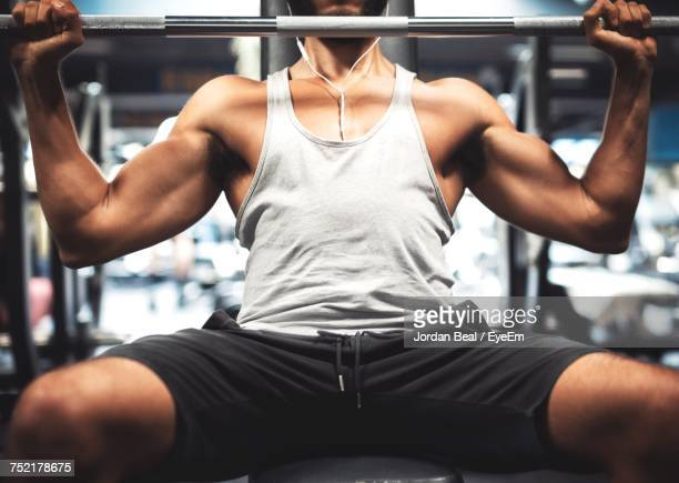 Midsection Of Man In Gym