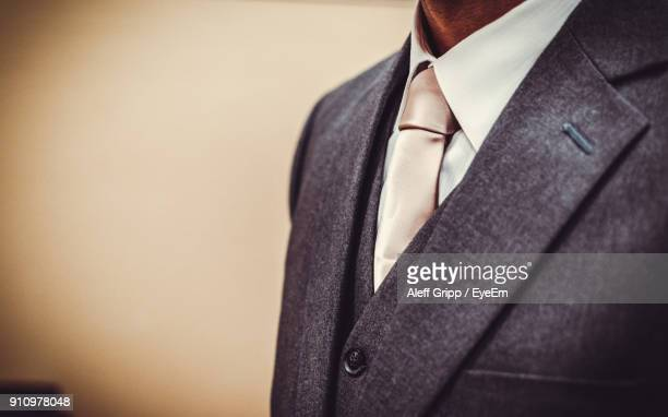 Midsection Of Man In Suit