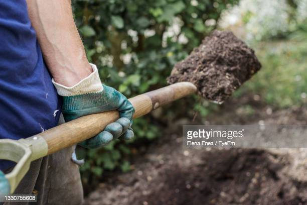 midsection of man working - agriculture stock pictures, royalty-free photos & images