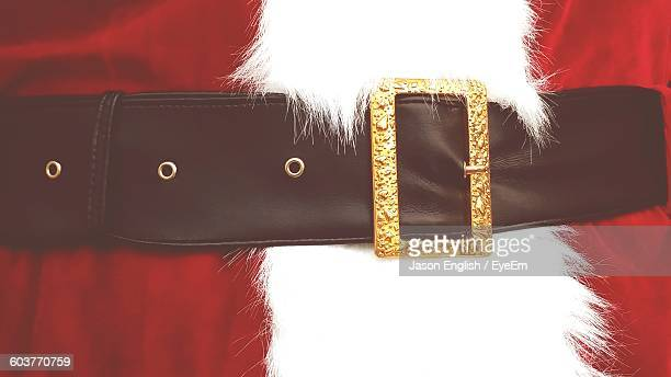 Midsection Of Person In Santa Claus Costume