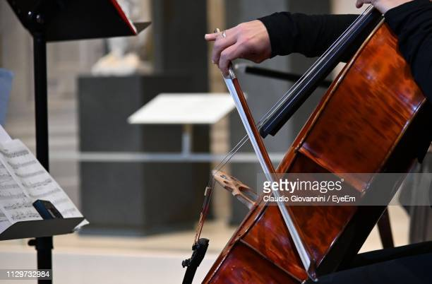 Midsection Of Person Playing String Instrument