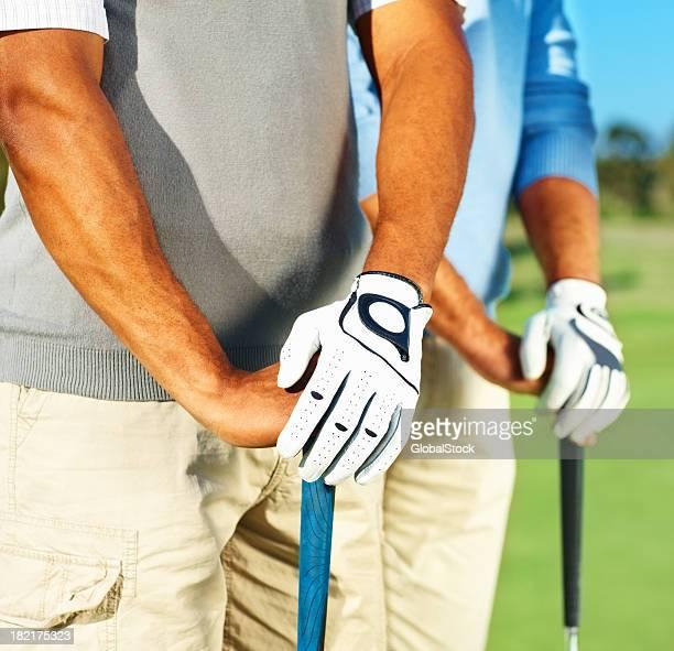 Bauchgegend zwei Profi-Golfer