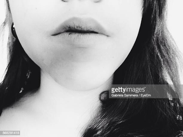 midsection of young woman with dry lips - dry mouth stock photos and pictures