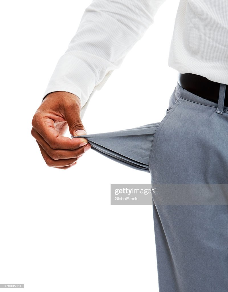 Midsection view of a businessman checking his pocket : Stock Photo