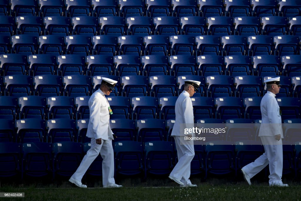President Trump Participates In The U.S. Naval Academy Commencement Ceremony