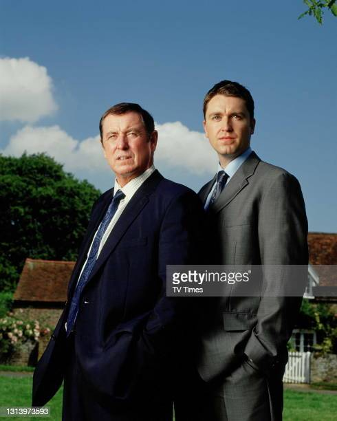 Midsomer Murders actors John Nettles and Daniel Casey, circa 2002.