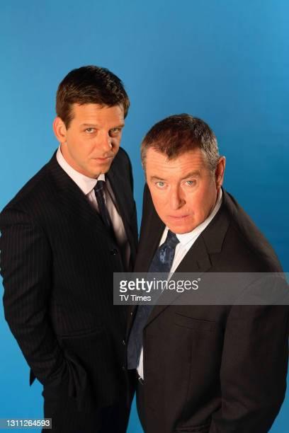 Midsomer Murders actors John Nettles and Jason Hughes, February 9, 2006.