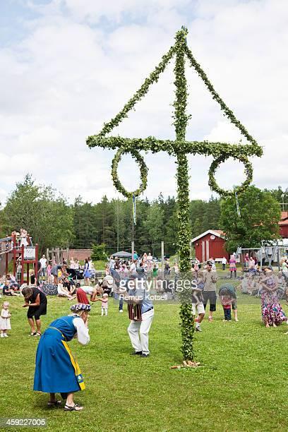 midsummer celebration - midsommar bildbanksfoton och bilder