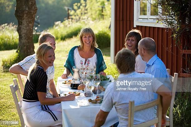 Midsummer in Stockholm archipelago Sweden.