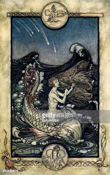 A Midsummer Night's Dream Illustration by Arthur Rackham to the play by William Shakespeare Act 2 scene 1 Oberon's instructions to Puck 'certain...