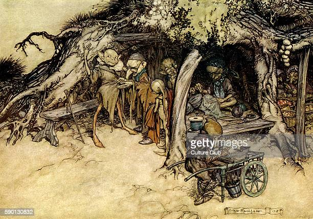 A Midsummer Night's Dream Illustration by Arthur Rackham to the play by William Shakespeare Act 2 scene 2 Titania's fairy attendants 'To make my...