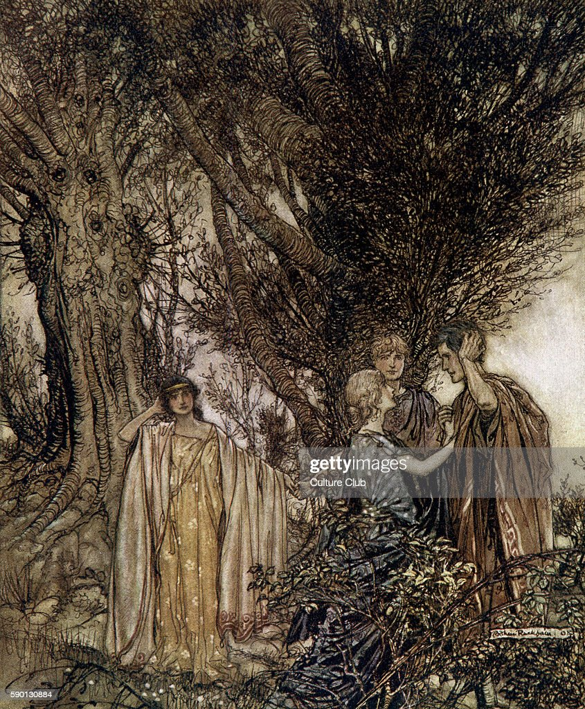 A Midsummer Night's Dream. Illustration by Arthur Rackham (1867 - 1939) to  the