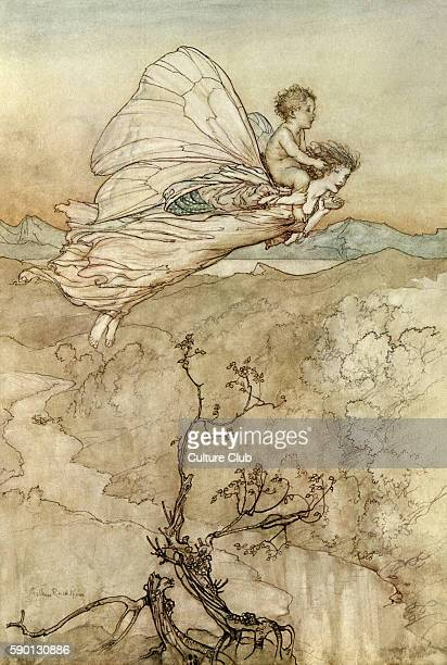 A Midsummer Night's Dream Illustration by Arthur Rackham to the play by William Shakespeare Act 4 scene 1 Titania sends her changeling to Oberon 'and...