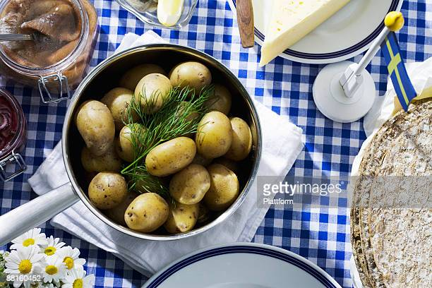 midsummer party sweden. - midsummer sweden stock pictures, royalty-free photos & images