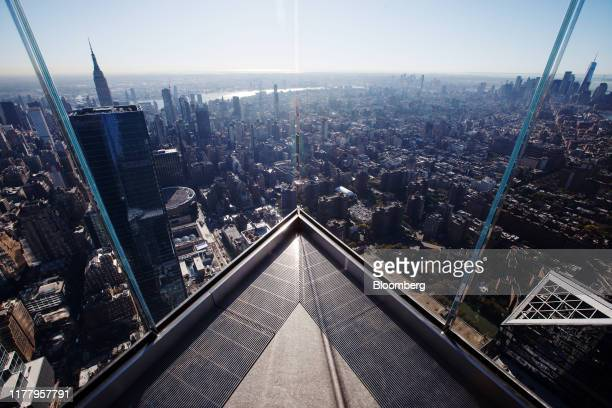 Midtown and lower Manhattan are seen from the Edge observation deck at 30 Hudson Yards during a media preview event in New York US on Thursday Oct 24...