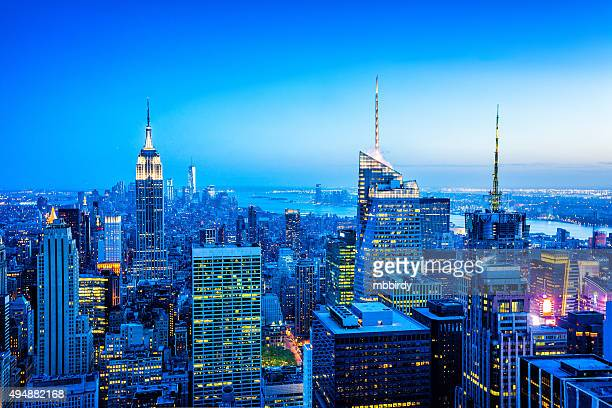 Midtown and Lower Manhattan skyline, New York, USA