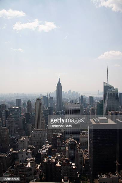 Midtown Manhattan cityscape, high angle view