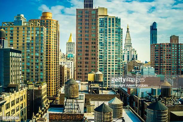 Midtown Manhattan in sunlight