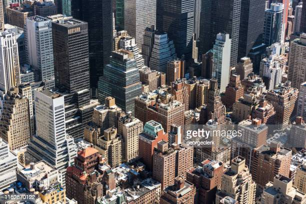 midtown manhattan, new york city - isometric projection stock photos and pictures