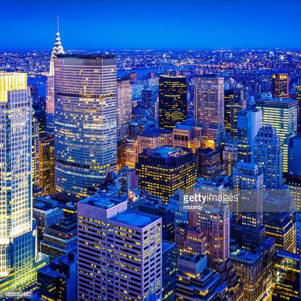 Le quartier de Midtown, à Manhattan, New York City, États-Unis
