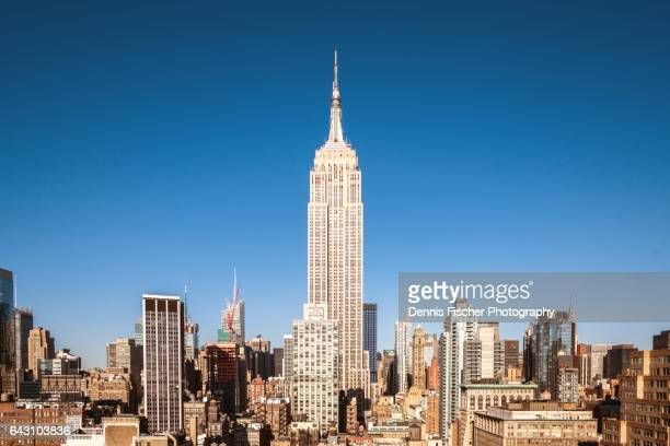 midtown manhattan - empire state building stock pictures, royalty-free photos & images