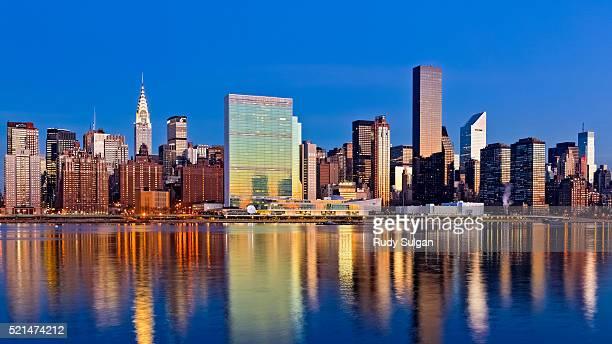 Midtown Manhattan Skyline at Dusk