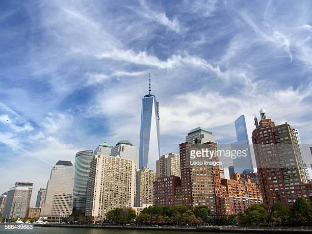 Midtown Manhattan Skyline viewed from a tourist ferry
