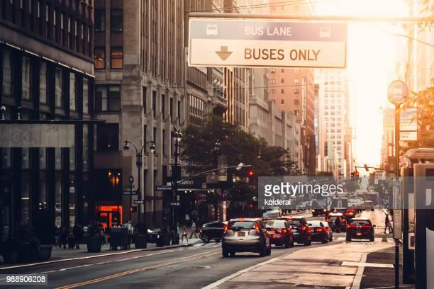 Midtown Manhattan sunset