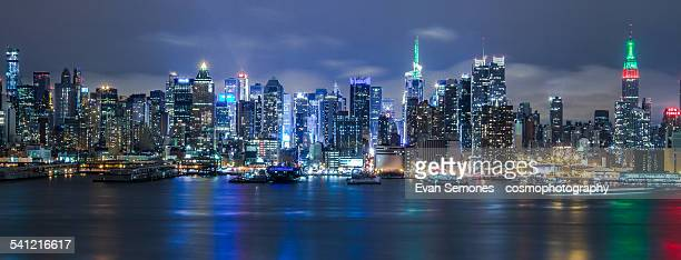 Midtown New York City Skyline at Night