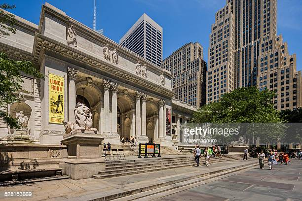 midtown, new york public library - new york public library stock pictures, royalty-free photos & images