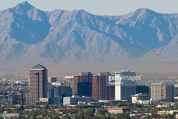Gros plan du centre-ville de Phoenix