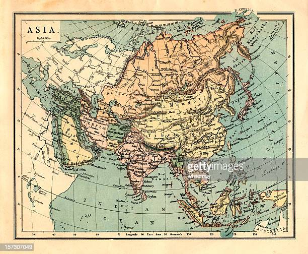 Mid-Victorian map of Asia