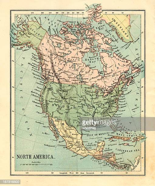 Mid-Victorian map of North America