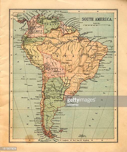 Mid-Victorian map of South America