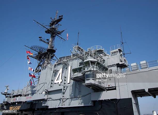 uss midway - landing craft stock pictures, royalty-free photos & images
