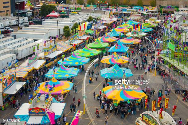 cne midway - canadian national exhibition stock photos and pictures