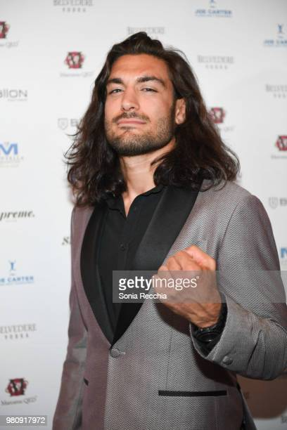 Midweight division fighter Elias Theodorou attends Joe Carter Classic After Party at Ritz Carlton on June 21 2018 in Toronto Canada