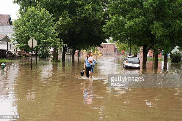 midwest flood victim - flooding stock photos and pictures