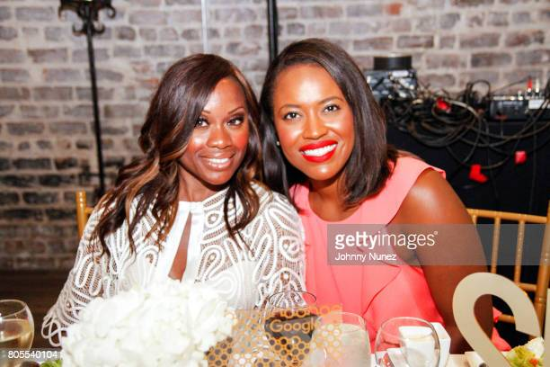 Midwin Charles and Alencia Johnson attend the Google Black Women's Leadership Dinner on July 1 2017 in New Orleans Louisiana