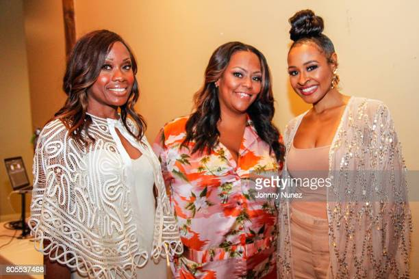 Midwin Charles Kristi Henderson and Janell Snowden attend the Google Black Women's Leadership Dinner on July 1 2017 in New Orleans Louisiana