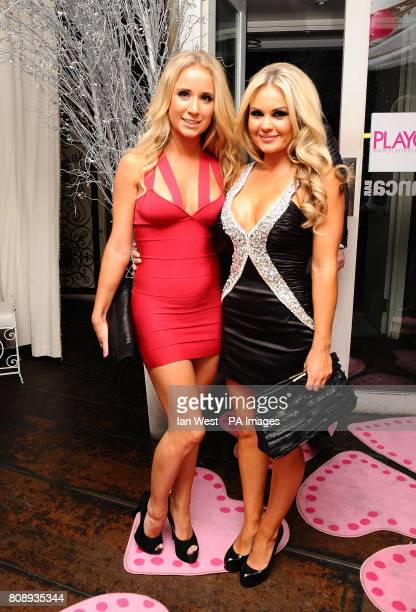'Mieke' and Annie Cooper at the Playgirl Magazine launch party at the Blanca Bar London