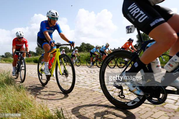 Mieke Kröger of Germany / Cobblestones / during the 25th UEC Road European Championships 2019, Elite Women's Road Race a 115km race from Alkmaar to...