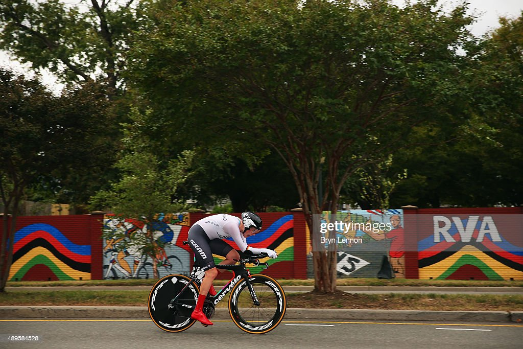 Mieke Kroeger of Germany in action during the Women's Elite Individual Time Trial on day three of the UCI Road World Championships on September 22, 2015 in Richmond, Virginia.