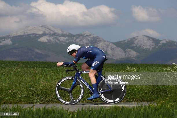 Mieke Kroger of Germany and Team Virtu Cycling during the 31st Women WT EmakumeenBira Stage 2 266km Individual Time Trial from Agurain to Gastetz on...