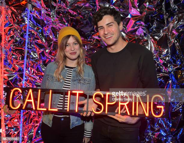Miel Bredouw and Anthony Padilla attend Call It Spring takes over HYDE Lounge to host young Hollywood's finest for the Lakers vs Warriors NBA Game at...