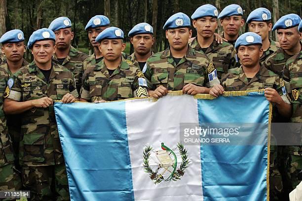 Miembros del tercer contingente de las Fuerzas de Mantenimiento de Paz que sera desplegado proximamente en la Republica Democratica del Congo posan...