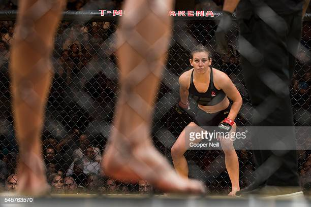 Miesha Tate fights against Amanda Nunes during UFC 200 at TMobile Arena on July 9 2016 in Las Vegas Nevada
